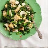 spring kale panzanella