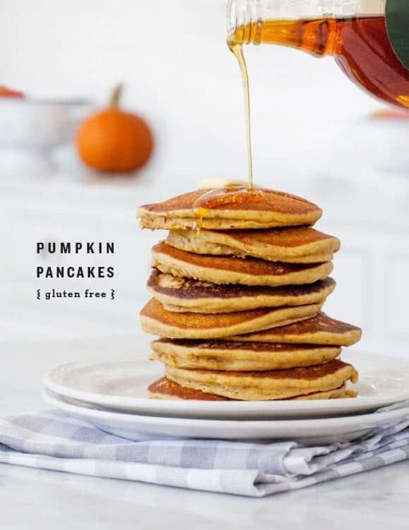 gluten free pumpkin pancakes / @loveandlemons